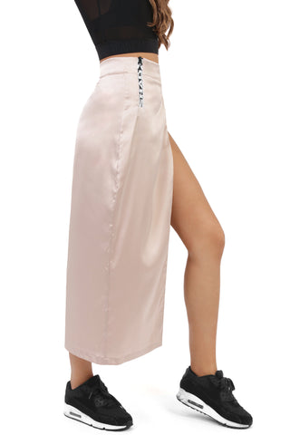 Silky High Slit Skirt