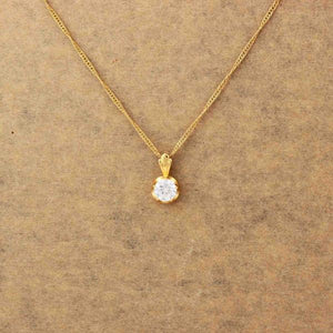 womens 18k gold crystal necklace