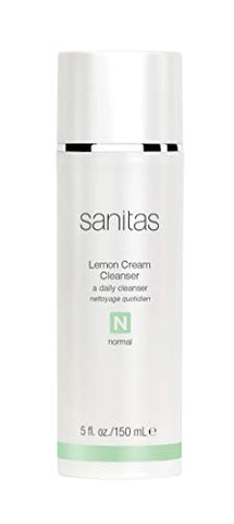 Sanitas Skincare Lemon Cream Cleanser, Enriching Cleanser, 5 Ounces