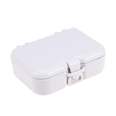 SUPVOX Denture Case Denture Bath Box Case with Teethbrush and Mirror Dental Orthodontic Retainer False Teeth Storage Case Box for Travel