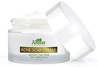 Keeva Organics  Intensive Acne Scar Removal Treatment Cream   7 X Faster Results   Secret Tea Tree O