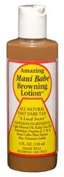 Browning Lotion - All Natural Fast Dark Tan 4 fl.oz (2 bottle)