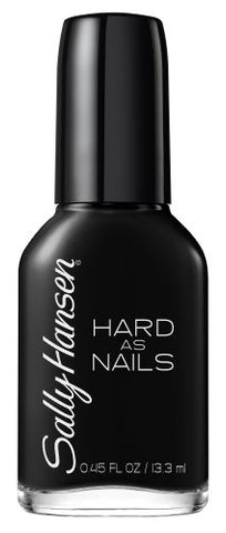 Sally Hansen Hard as Nails Color, Black Heart, 0.45 Fluid Ounce