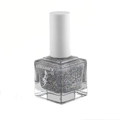 Nontoxic, 10 Free Glitter Top Coat Clear Nail Polish, Majestic! .51 Fl Oz.