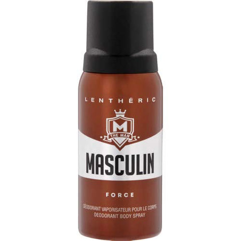 #MG LENTHERIC Masculin Deodorant Spray Force 150ml -Is a masculine scent with touches of warm wood that helps protect you from body odour and keeps you feeling your most confident all day long