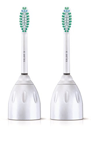 Philips Sonicare Hx7022/66 Genuine E Series Replacement Toothbrush Heads, 2 Pk