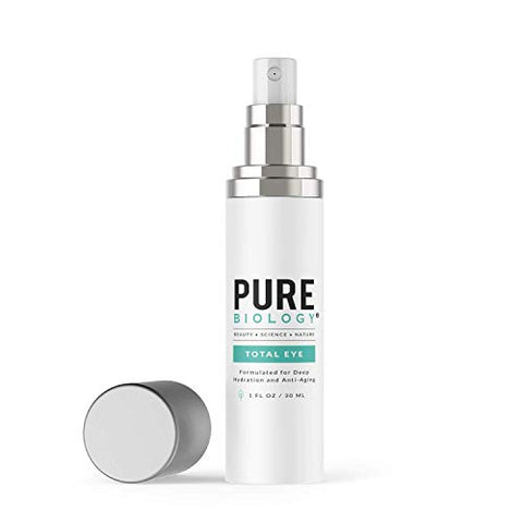 Pure Biology Total Eye Cream Serum With Vitamin C + E, Hyaluronic Acid & Anti Aging Complexes To Red