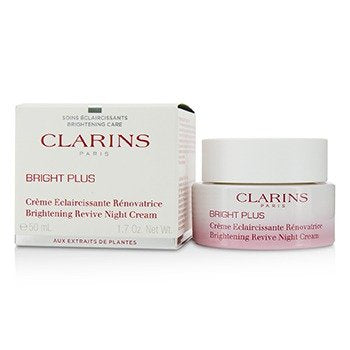 Clarins Bright Plus Brightening Revive Night Cream, 1.7 Ounce