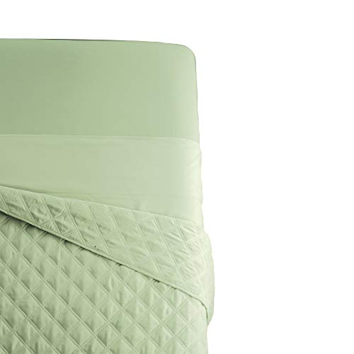 Sposh Microfiber Flat Sheet   Greenery