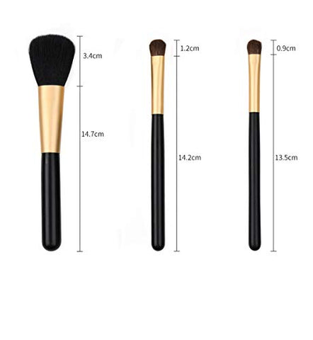 HU- Makeup Brush Set, Soft and Cruel-Free Synthetic Face Eye Shadow Brush 7Pcs