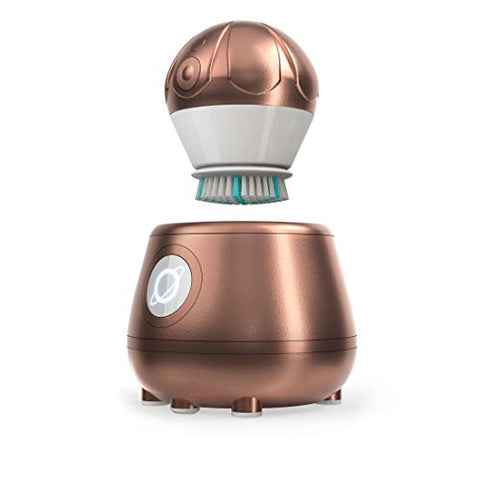 TAO Clean Orbital Facial Brush and Cleansing Station - Rose Gold (Limited Edition) - Electric Face Cleansing Brush with Patented Docking Technology, Ergonomic Handle, Dual Speed Settings
