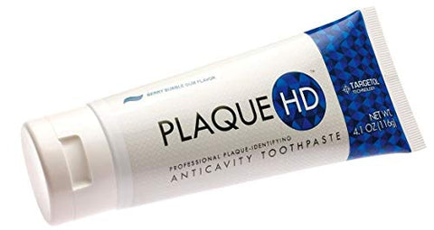 Plaque HD Plaque Identifying Toothpaste (2 Pack) | Plaque Disclosing Berry Bubble Gum Toothpaste with Xylitol