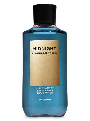BATH AND BODY WORKS MIDNIGHT FOR MEN GIFT SET ~ BODY WASH ~ BODY CREAM - AND DEODORIZING BODY SPRAY- FULL SIZE
