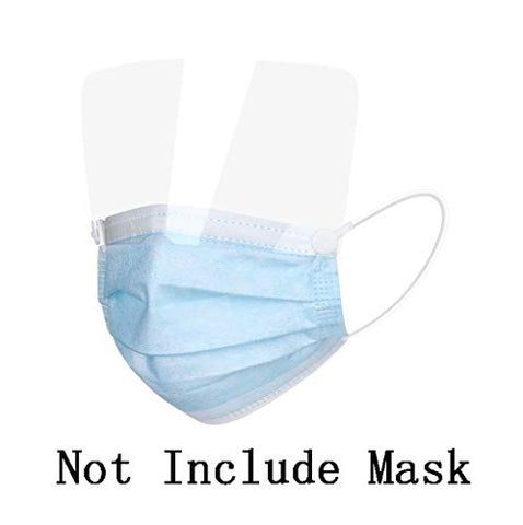 Owill Adult Face_Masks with Detachable Eyes Protection for Adult,3-Ply Breathable Safty Full Face Outdoor Anti-Haze Dustproof Face Protection?USA in Stock ? (Clear 10PC (Only Eyeshield))
