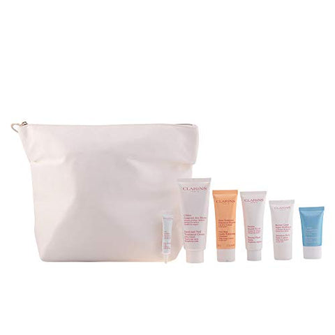 Clarins Belle De La Tete Aux Pieds Gorgeous Getaways 6 Pack With Makeup Bag
