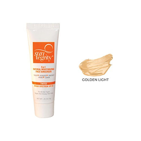 SAMPLE TUBE - Suntegrity 5 in 1 Tinted Face Sunscreen (Golden Light)
