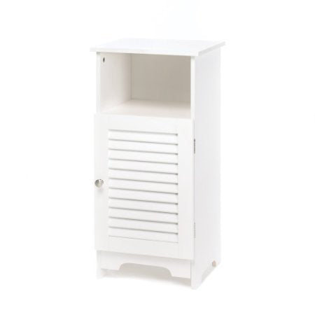 Nantucket White Storage Cabinet End Table Nightstand