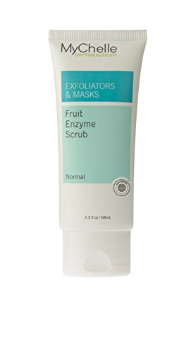 My Chelle Dermaceuticals Fruit Enzyme Scrub  Facial Exfoliator With Jojoba Oil Beads For All Skin Typ
