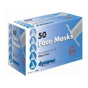 Blue Pleated Surgical Face Mask Tie On Glass Free Filter - 50 Each