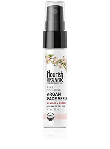 Nourish Organic Pure Hydrating Argan Face Serum, 0.7 Ounce