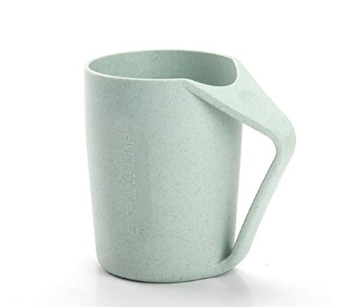 SANGAITIANFU 1 Pcs Natural Environmentally Friendly Wheat Straw Mugs Couples Wash Cups Plastic Toothbrush Cups (Green)