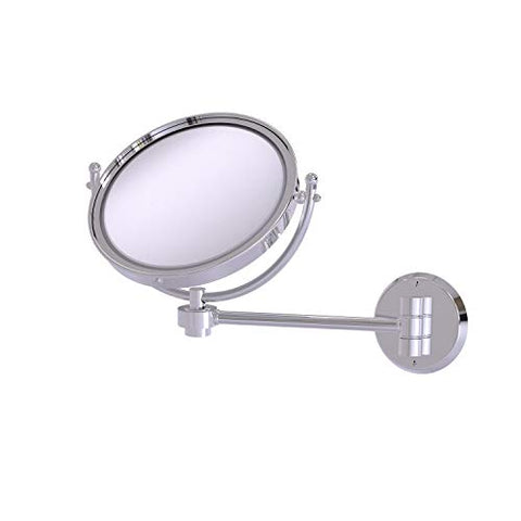 Allied Brass WM-5/5X 8 Inch Wall Mounted 5X Magnification Make-Up Mirror, Polished Chrome