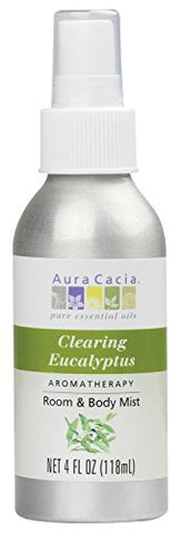 Aura Cacia Clearing Eucalyptus Mist | Gc/Ms Tested For Purity | 118 Ml (4 Fl. Oz.)
