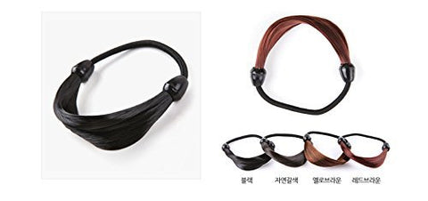 Hairpiece Stretchy Hair Ring for Girl, #natural brown, Korean style, Kpop style, Korean Hair style