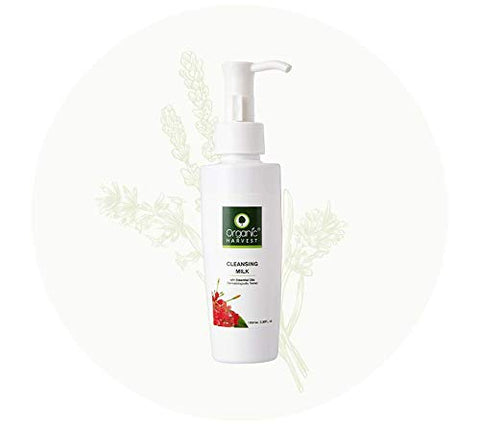 Organic HARVEST CLEANSING MILK With Essential Oils 100mle 3.38FL.oz Dermatologically Tested