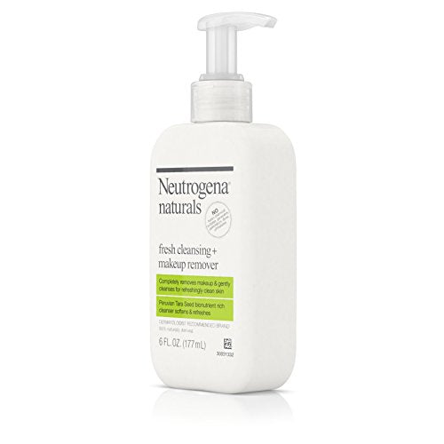 Neutrogena Naturals Fresh Cleansing Daily Face Wash + Makeup Remover With Naturally Derived Peruvian