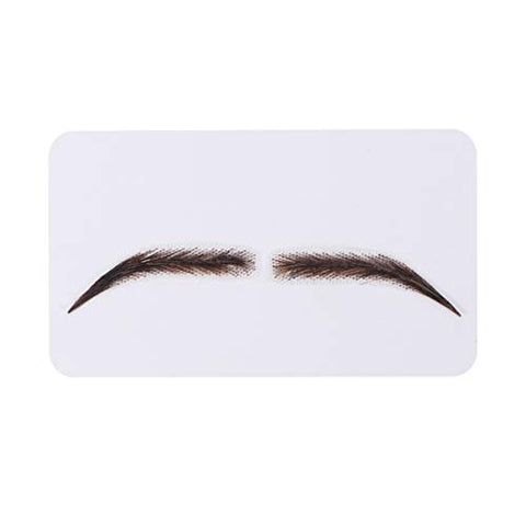Minkissy False Eyebrows Lifelike Long Natural Three Dimensional Artificial Eyebrows Makeup Props for Woman Girl Black