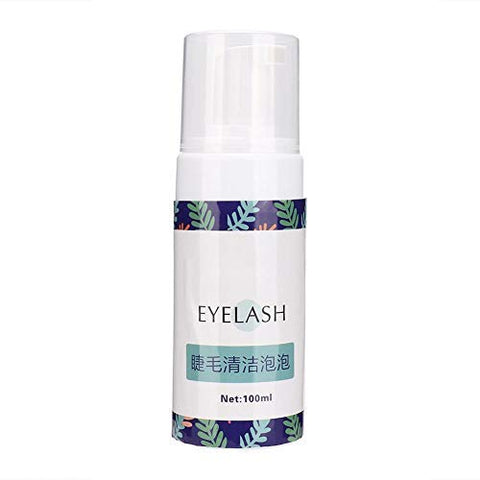 100ml Eyelashes Foam Cleanser, Mild Eyelash Cleansing Mousse for Removing Cosmetic Dirt and Glue, Eyelash Grafting Extension Cleaning Tool