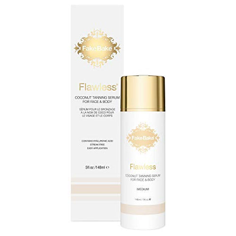 Fake Bake Flawless Coconut Tanning Serum | Glowing Sunnless Tan For Face & Body | Natural Moisturizi