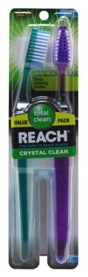 Reach Toothbrush Crystal Clean Soft Twin (Pack of 6)
