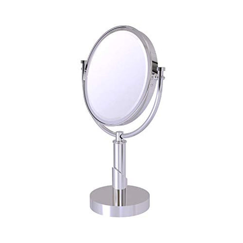 Allied Brass TR-4/2X Tribecca Collection 8 Inch Vanity Top 2X Magnification Make-Up Mirror, Polished Chrome
