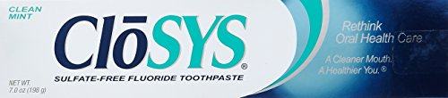 Clo Sys Fluoride Toothpaste, 7 Ounce, Gentle Mint, Whitening, Sulfate Free,