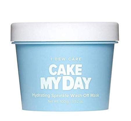 I DEW CARE Cake My Day Hydrating Sprinkle Wash-Off Face Mask - Korean Skin Care Face Mask With Hyaluronic Acid, Face Moisturizer Face Mask To Plump, Nourish And Moisturize Skin (3.52 oz)