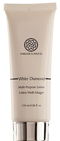 Forever Flawless Diamond Infused Multipurpose Lotion, Moisturizer w Natural Diamond Powder, Hydrates All Skin for Anti Aging Treatment, Essential Nutrients, and Oils FF14, (4.06 fl oz)