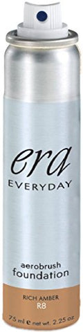 ERA Everyday Aerobrush Foundation Makeup, R8 Rich Amber, 2.25 Ounce