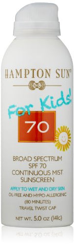 Hampton Sun Spf 70 For Kids Continuous Mist Sunscreen, 5 Oz
