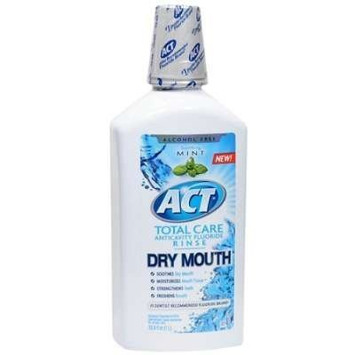 ACT Total Care Dry Mouth Anticavity Fluoride Mouthwash Soothing Mint 33.80 oz (Pack of 3)