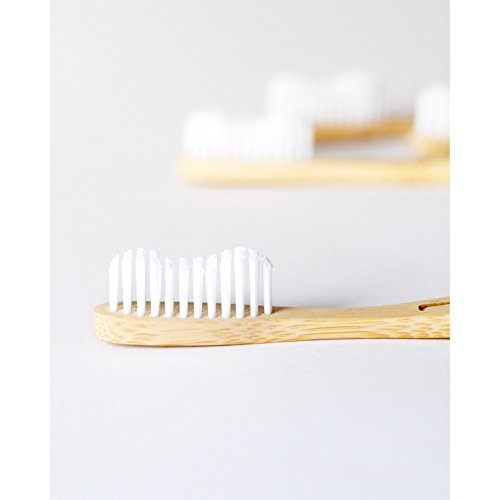 Wowe Lifestyle Natural Organic Bamboo Toothbrush Eco Friendly Wood, Ergonomic Biodegradable Handle ,