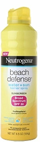 Neutrogena Beach Defense Water Resistant Sunscreen Body Spray With Broad Spectrum Spf 30, Paba Free,