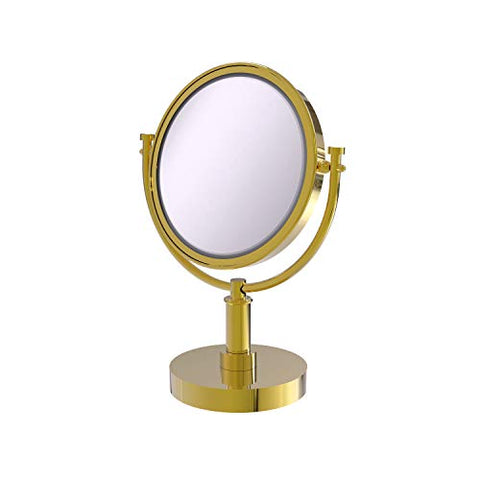 Allied Brass DM-4/5X-PB 8-Inch Table Mirror with 3x Magnification, 15-Inch, Polished Brass