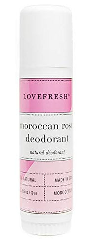 Lovefresh - All Natural Deodorant | Aluminum Free (Moroccan Rose) (.65 oz Travel Size)