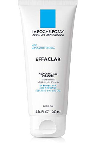 La Roche Posay Effaclar Medicated Gel Acne Face Wash, Facial Cleanser With Salicylic Acid For Acne &