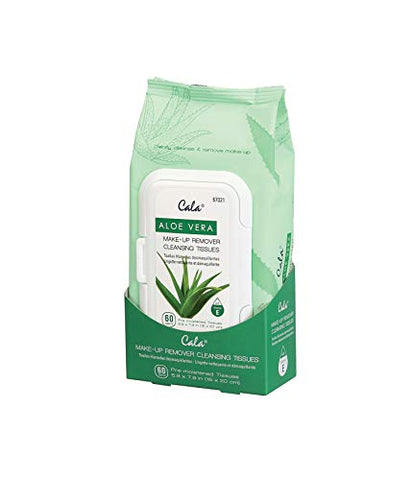 Cala Aloe vera make-up remover cleansing tissues 60 count, 60 Count