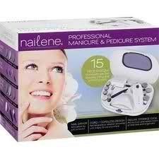 Nailene Professional Manicure & Pedicure 15 Pieces System, with Dryer, 1 Kt