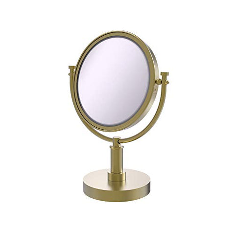 Allied Brass DM-4/5X-SBR 8-Inch Table Mirror with 3x Magnification, 15-Inch, Satin Brass
