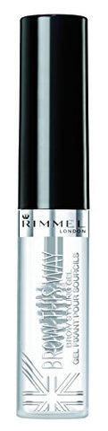 Rimmel Brow This Way, Lightweight Eyebrow Gel, Clear, 0.17 oz., Define & Sculpt Your Brows with Professional Level Styling Products
